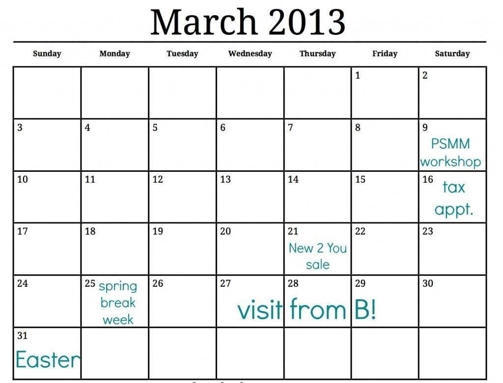 Best Free Printable Calendar Large Blocks | Get Your