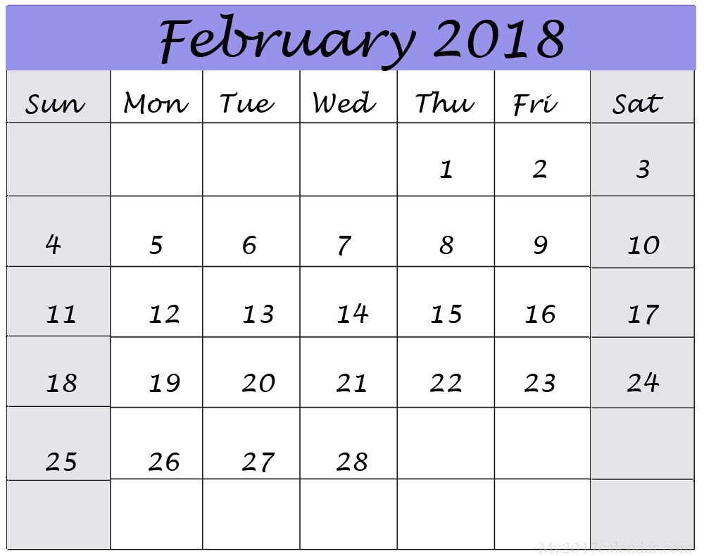 Big Block Printable Calendar :-Free Calendar Template