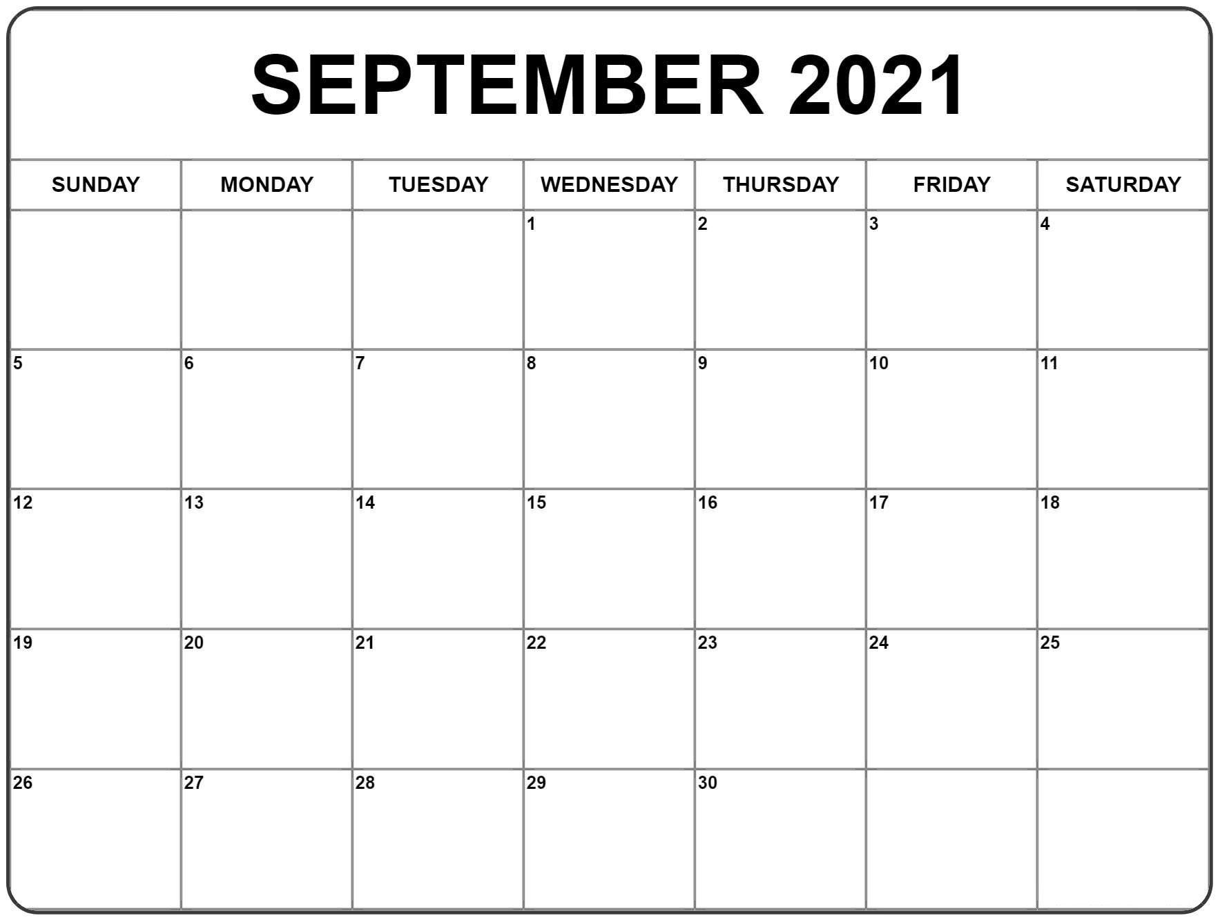 Calendar 2021 Printable Monthly Free | Month Calendar