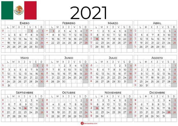 Calendario 2021 Mexico   Calendario, Dias Festivos Mexico