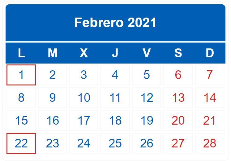 Calendario Del Contribuyente Febrero 2021 - Femz