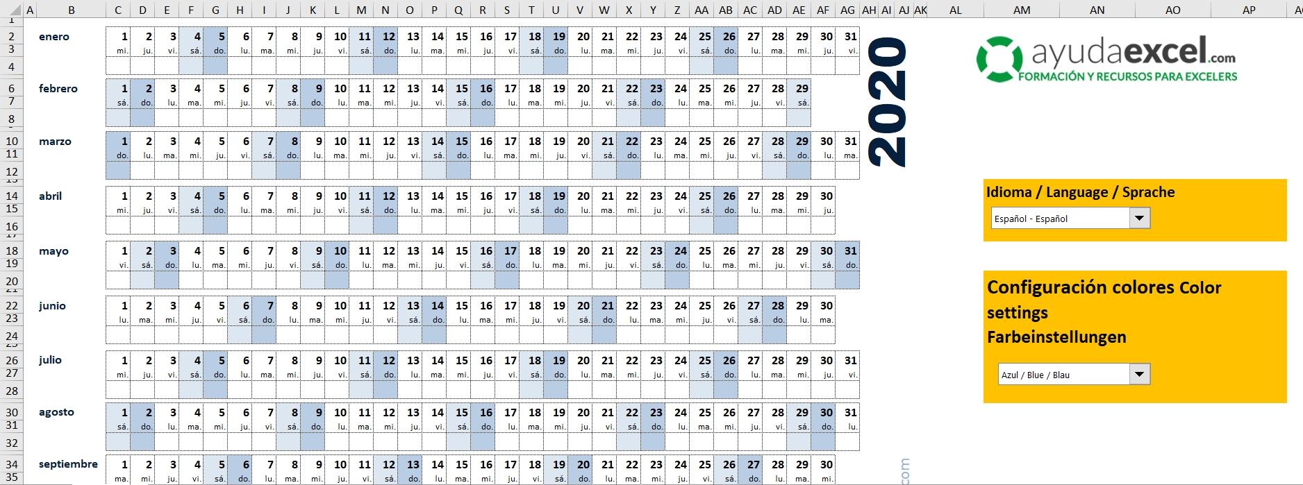 Calendario Dia Juliano 2020   Calendar Template 2020