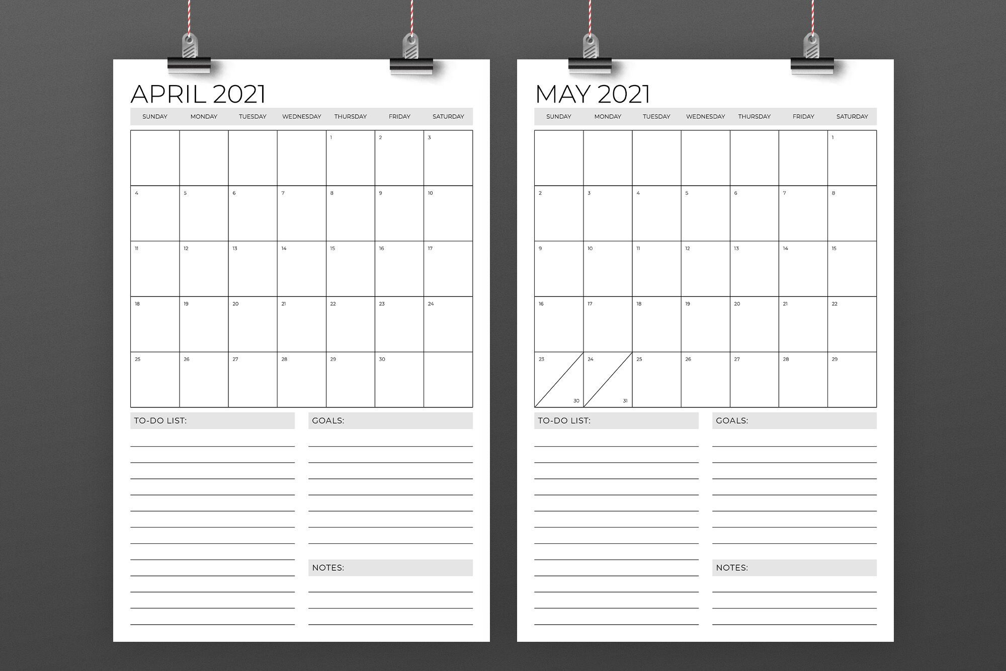 Create Your 11 X 17 April Calendar | Get Your Calendar