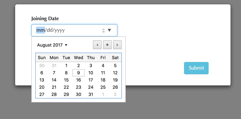 Datepicker Not Working Inside The Modal Stack Overflow