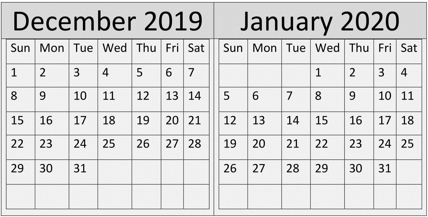 December 2020 Julian Date | Calendar Template Printable