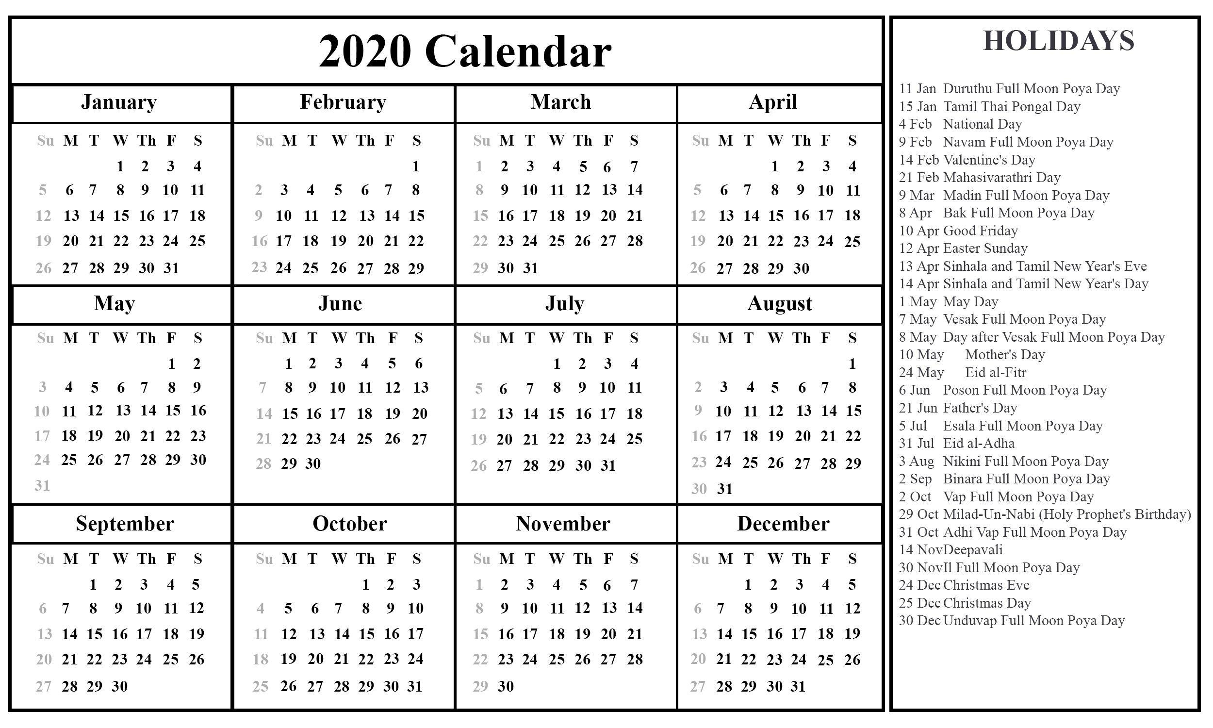 Depo Calendar 2021 Double Sidede - Template Calendar Design