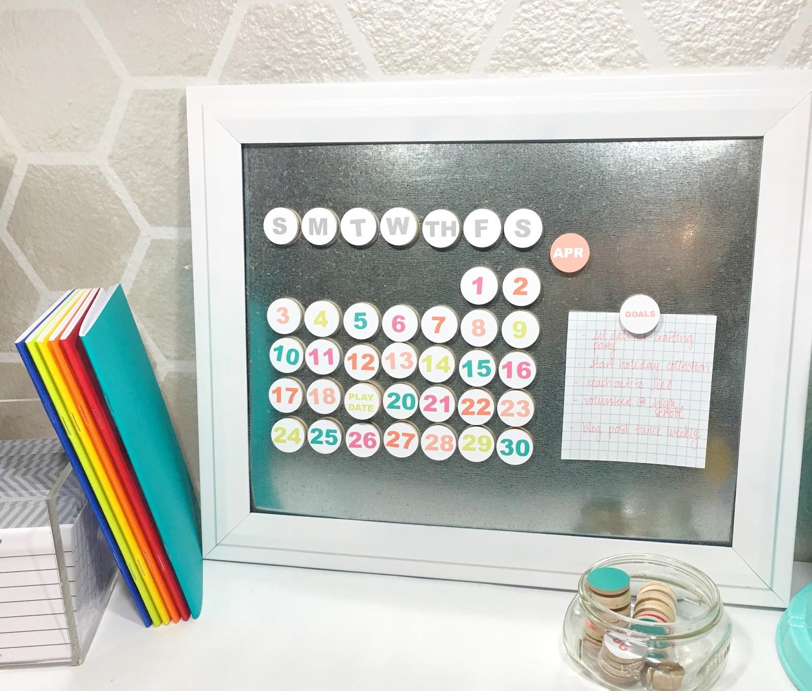 Diy Perpetual Calendar - Just My Little Mess
