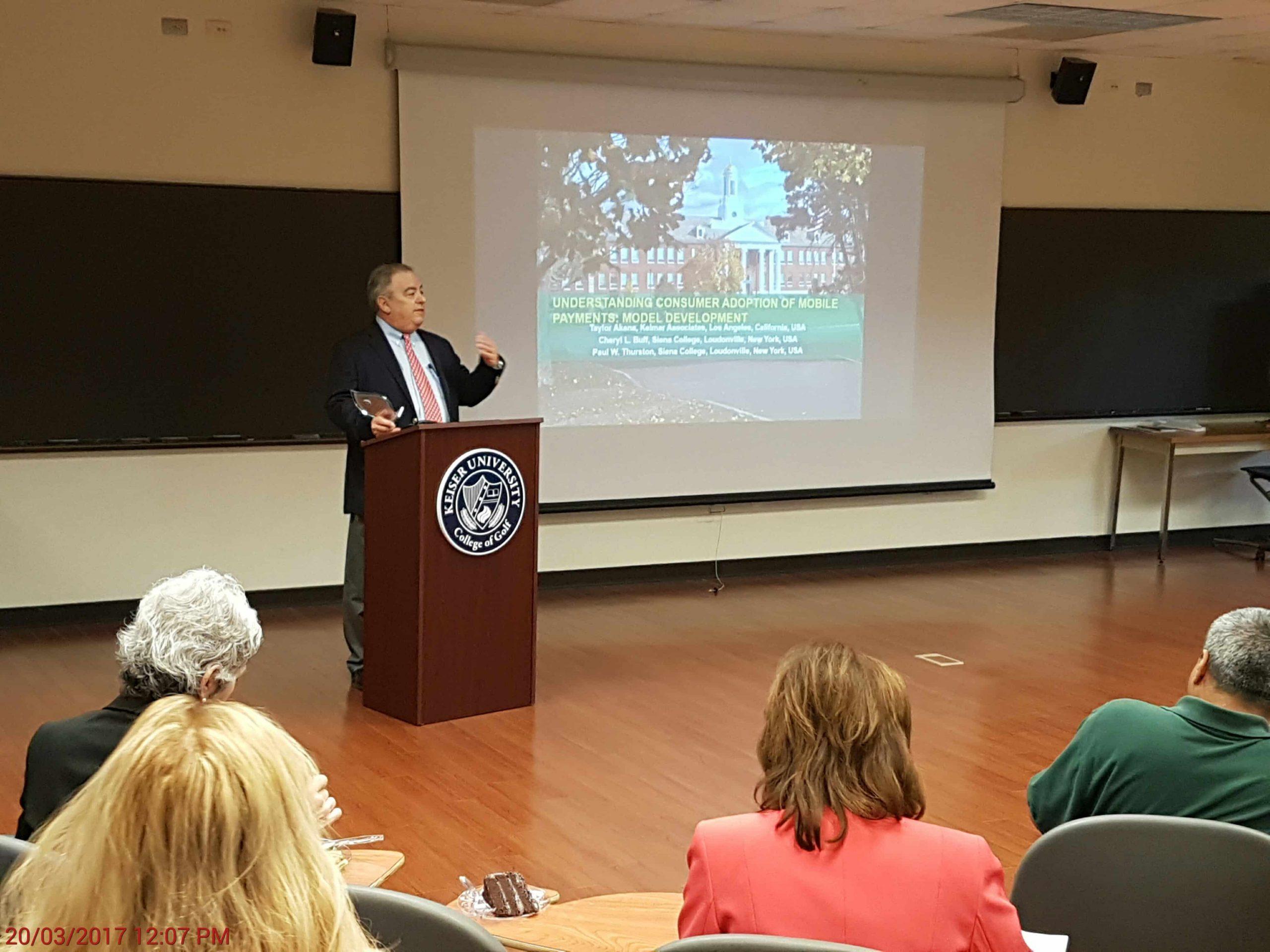 Dr Arthur Keiser Receives International Academy Of