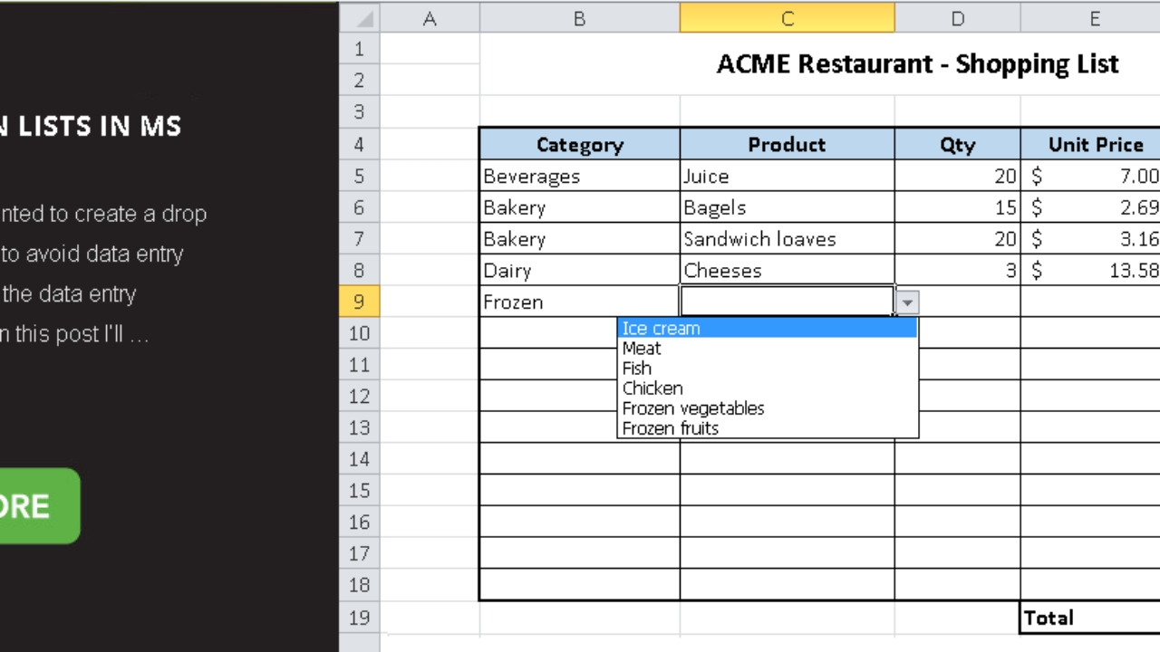Easy How To Add Drop Down Dates In Excel | Calendar