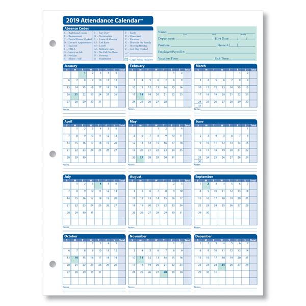 Employee Attendance Calendar - Emmamcintyrephotography