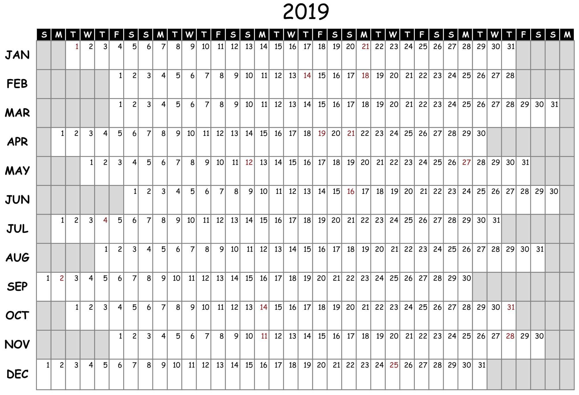 Free Printable 2020 Employee Attendance Calendar Ppe