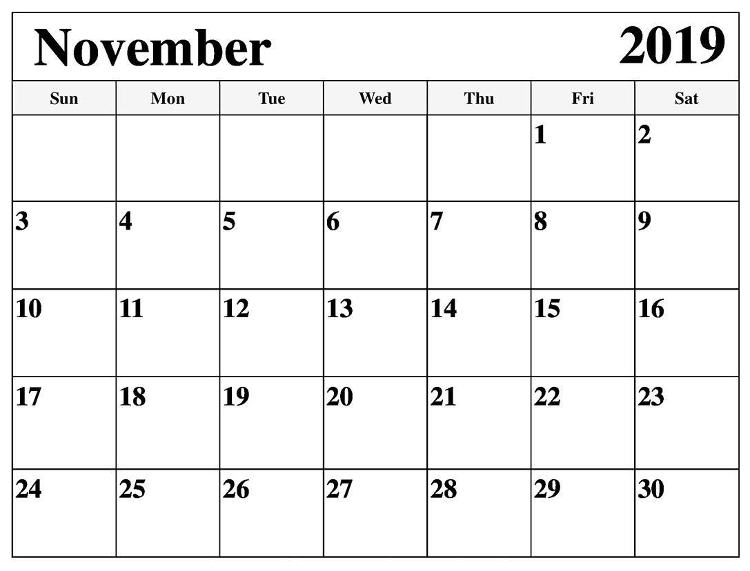 Free Pritntable Calendar With Big Blocks | Calendar