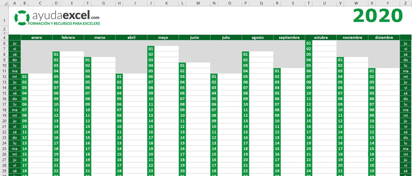 Get Calendario Juliano 2020 | Calendar Printables Free Blank