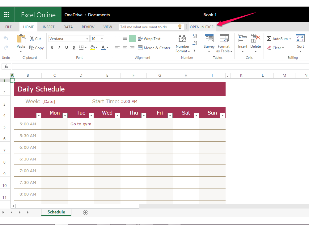 How To Create A Weekly 24 Hour Calendar With Excel