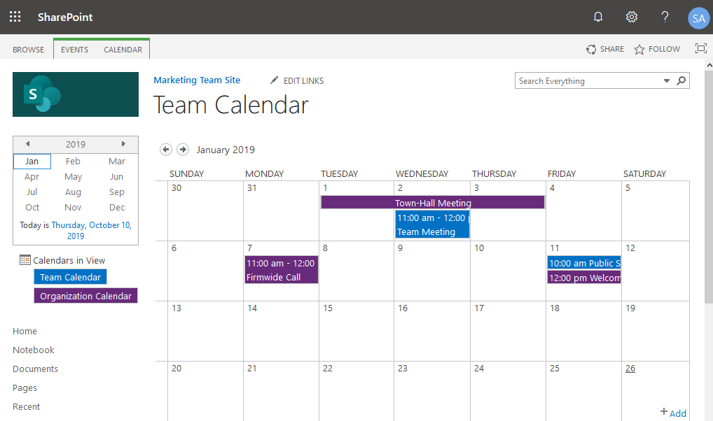 How To Create Calendar Overlay In Sharepoint Online