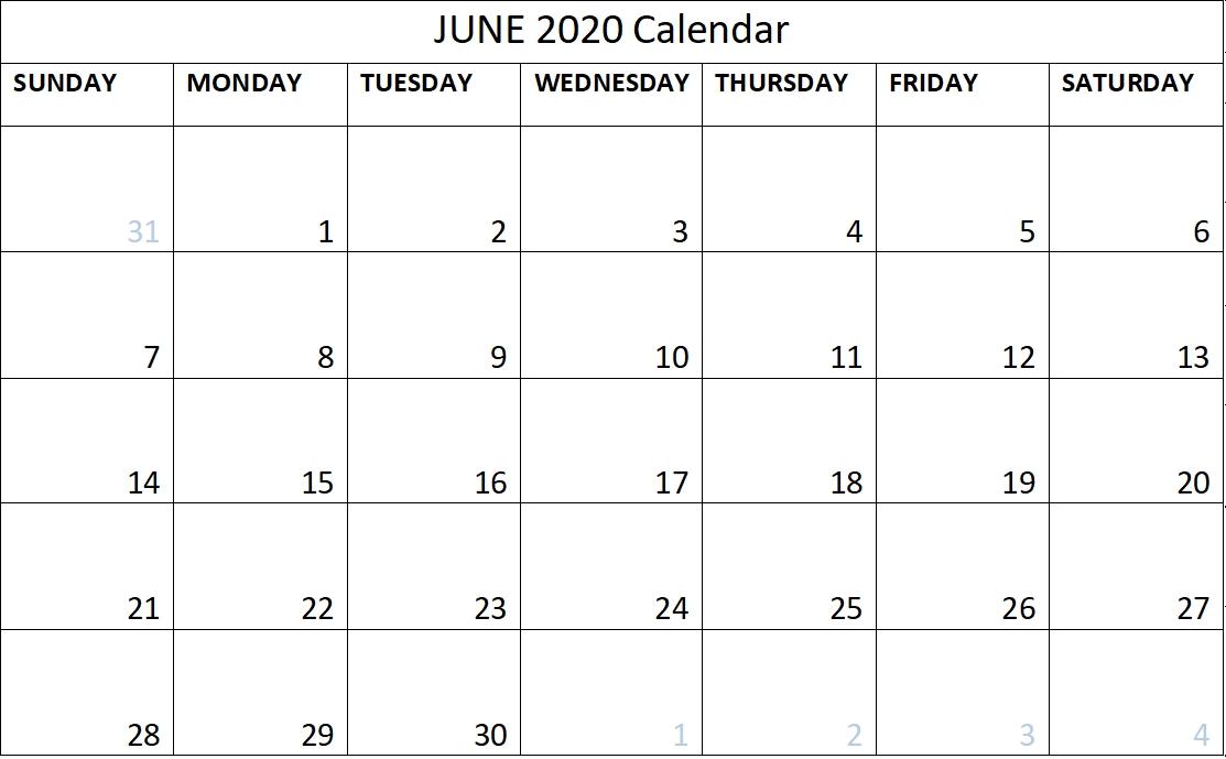 June 2020 Calendar With Time Slots Photo | Calendar