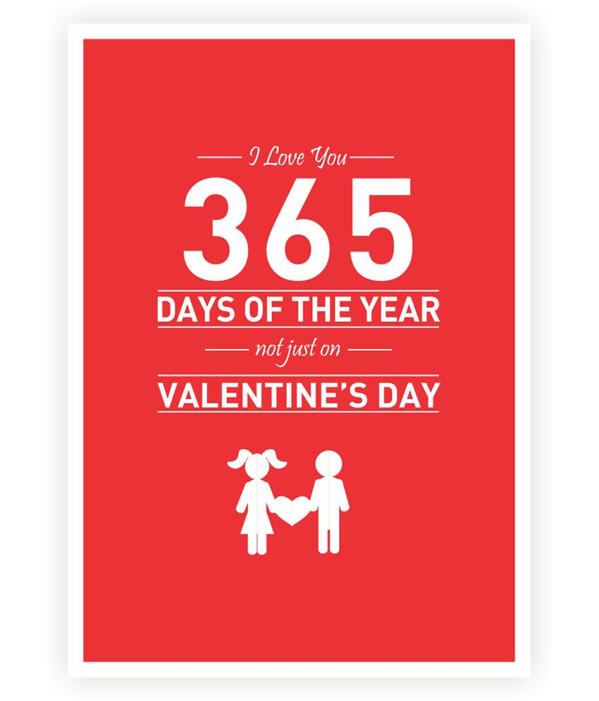 Lab No 4 Love 365 Days Of The Year Quotes Poster: Buy Lab