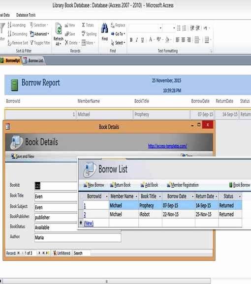 Microsoft Access Calendar Template | Stcharleschill Template