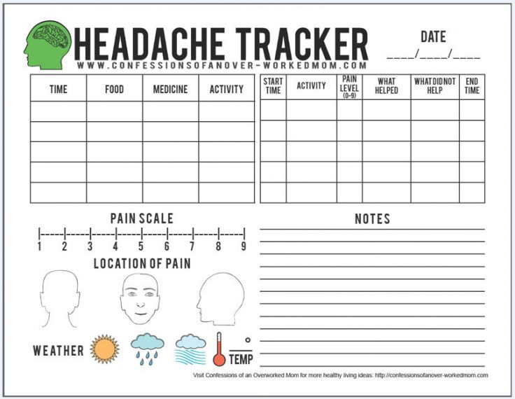 Migraine Tips And A Free Printable Headache Tracker (With