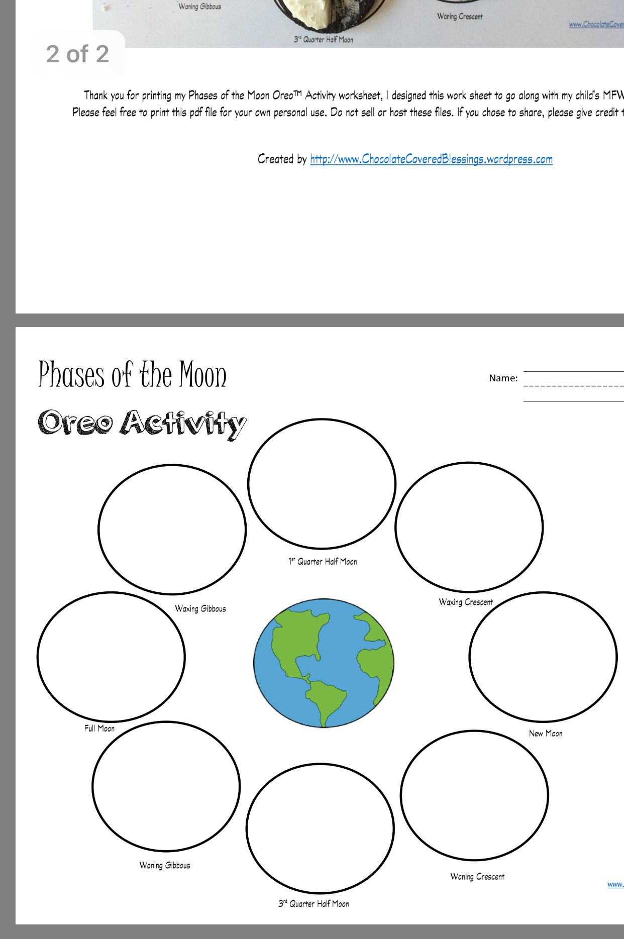 Moon Phases Worksheet Pdf - Ivuyteq