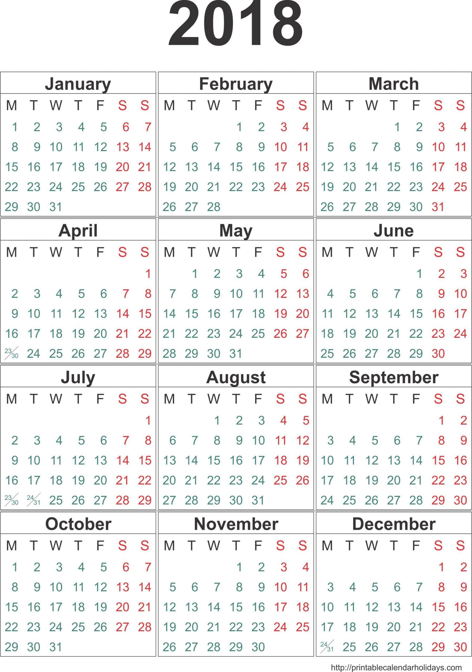No Frills Honor Calendar :-Free Calendar Template