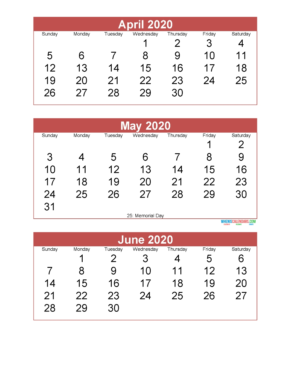 Ordinal Calendar 2020 | Calendar Template 2020