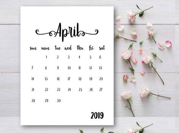 Pregnancy Announcement Calendar April 2019 Calendar Baby