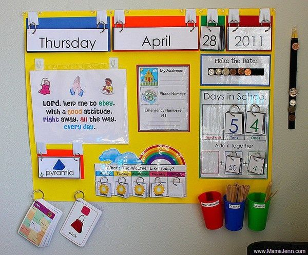 Preschool Circle Time Board And Supplies With Some Fun