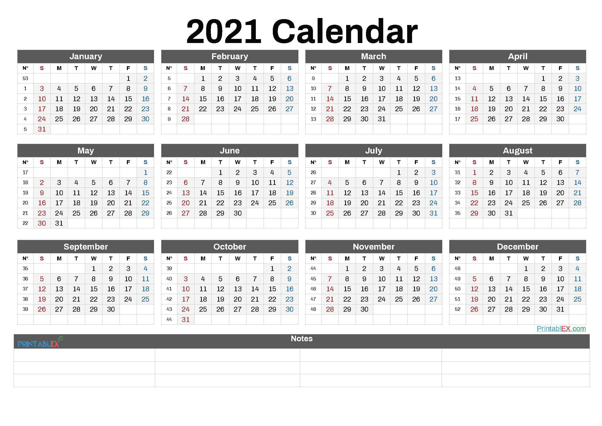 Printable 2021 Calendar By Month - 21Ytw87 - Free