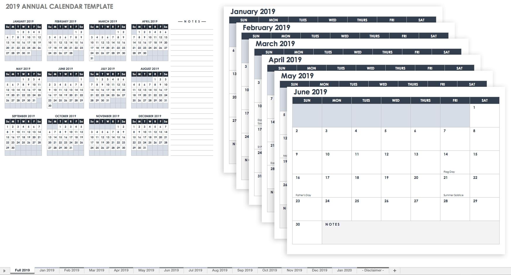 Printable Blank 12 Week Calendar Template - Calendar