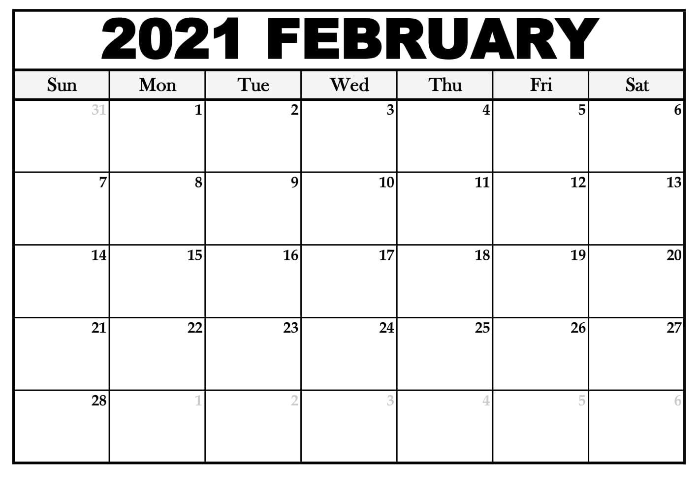 Printable February 2021 Calendar With Notes | Betacalender4U
