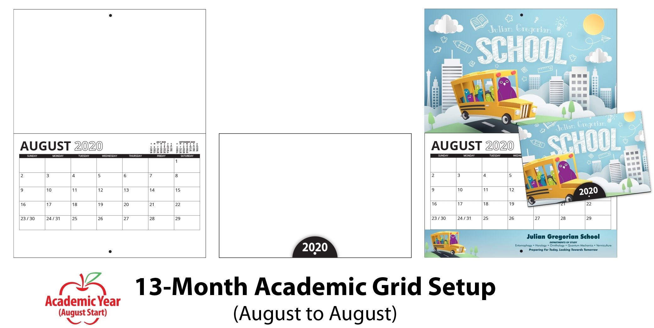 Promotional One Page Year Calendars 85 X 11 - Calendar