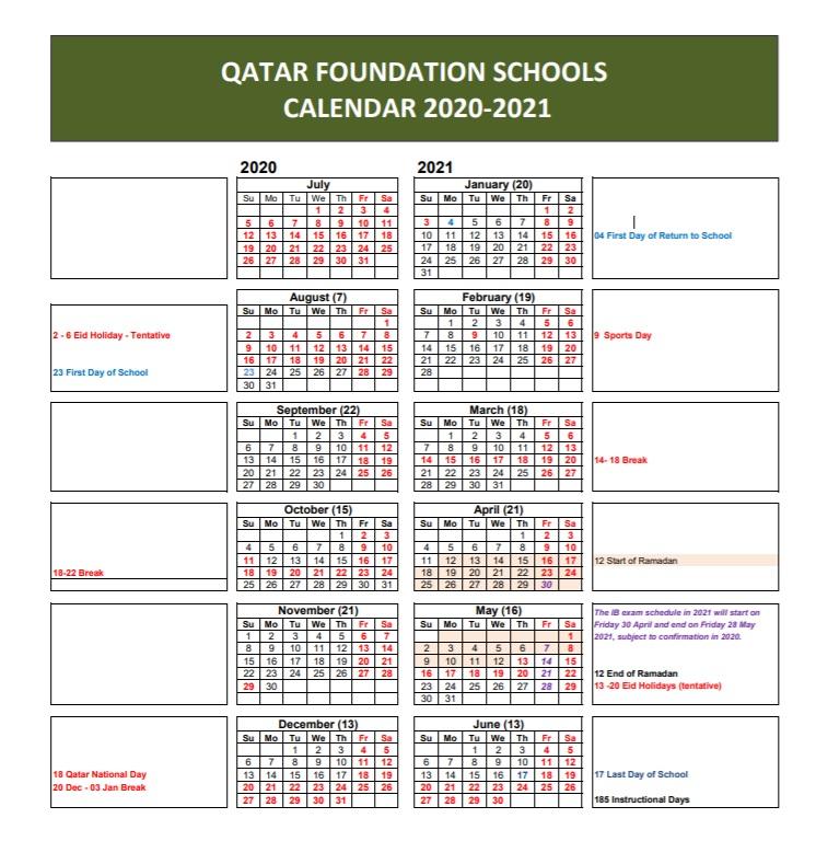 Qacps Calendar 2021 22 | Printable March