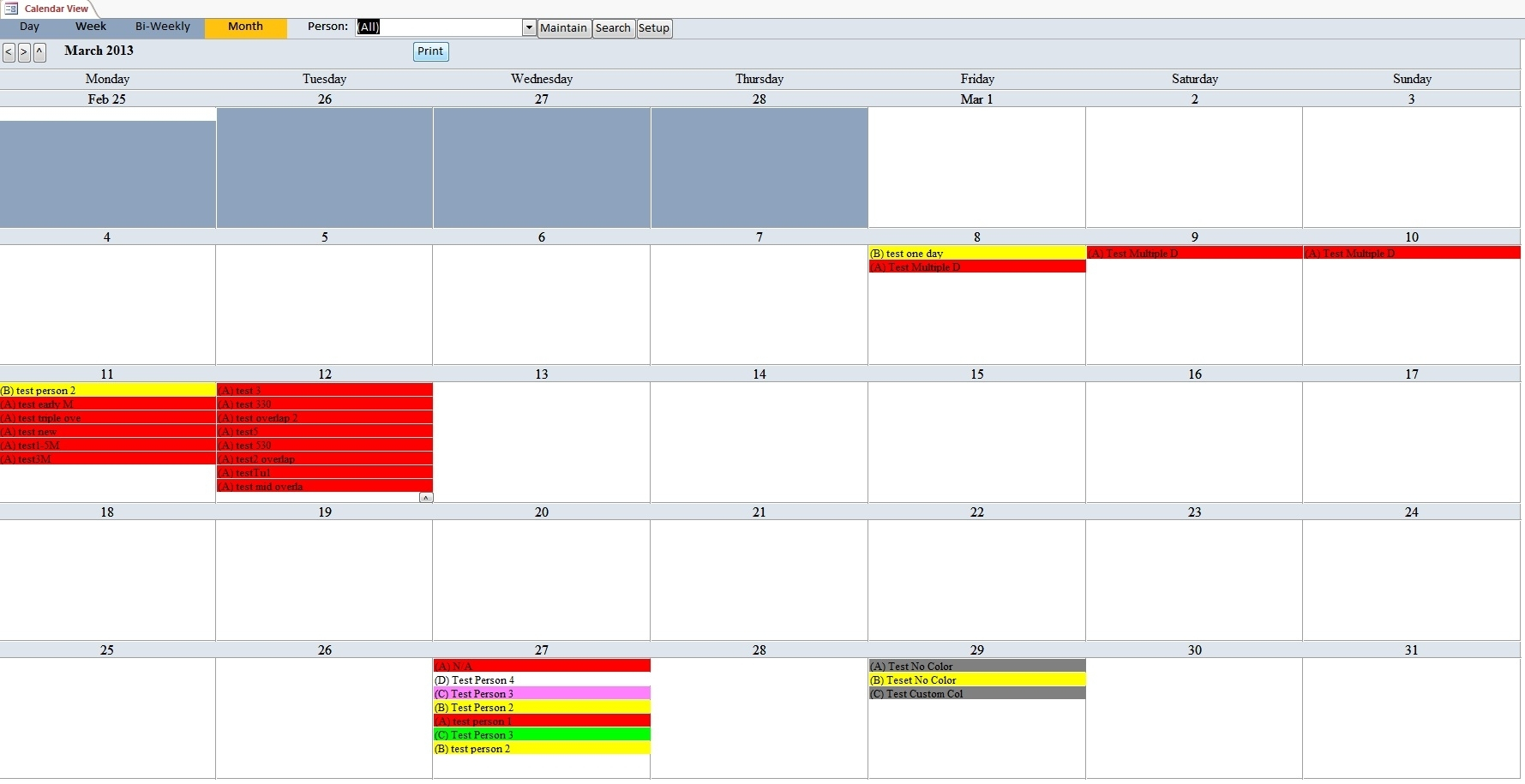 Scheduling Ms Access Databaase | Calendar Template 2020