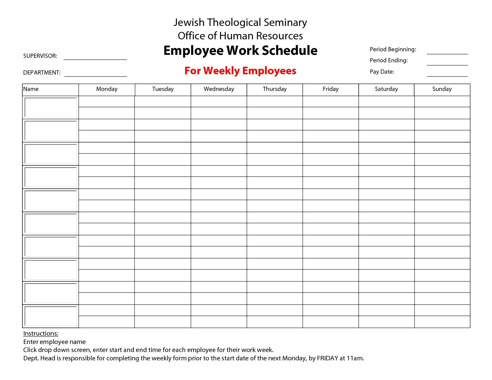 Semi Monthly Payroll Schedule » Free  | Business Forms