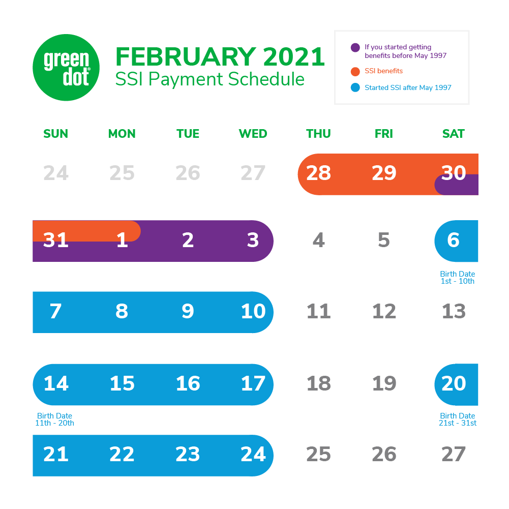 Ssi Social Security Benefits Payment Schedule: February