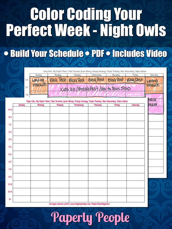 Time Management For Night Owls - Color Coding Your Perfect