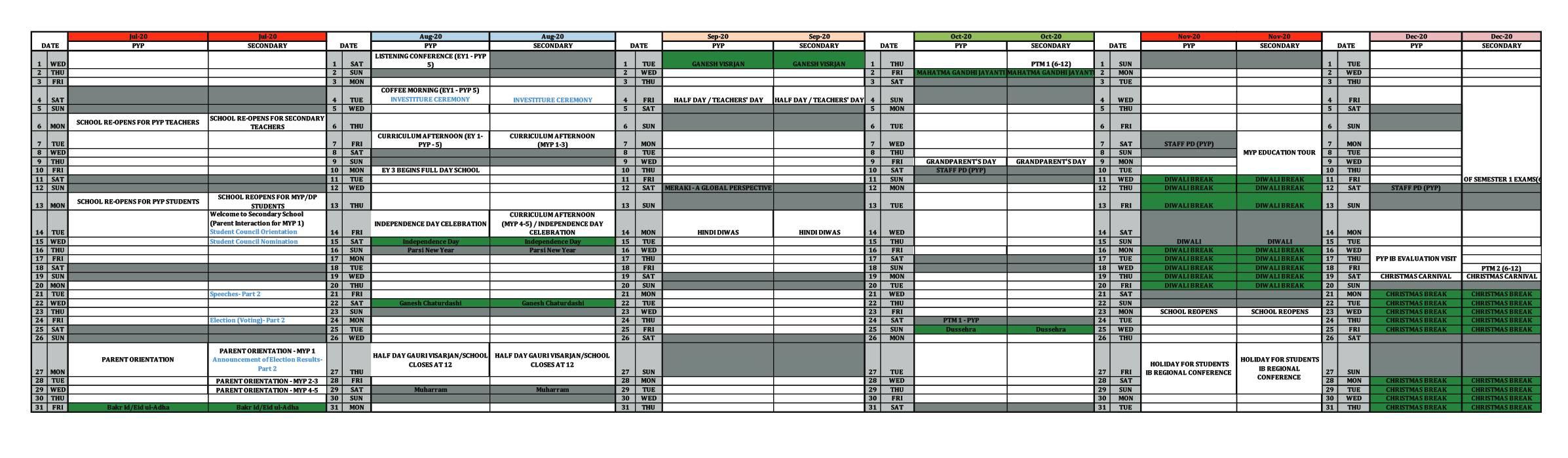 Uti Calendar 2021 | 2022 Calendar