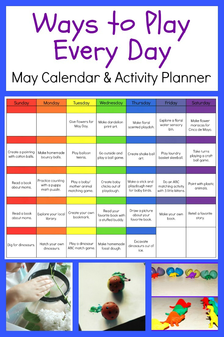 Ways To Play Everyday - May Activity Calendar For #