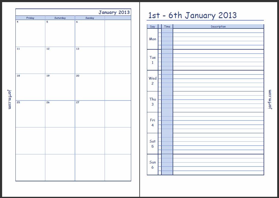 Weekly Calendar - Page 3 - Calendar Template 2021