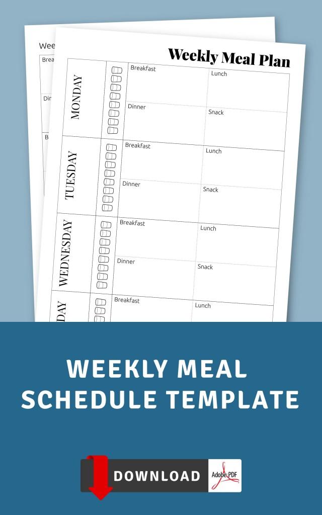Weekly Meal Schedule Template - Printable Pdf