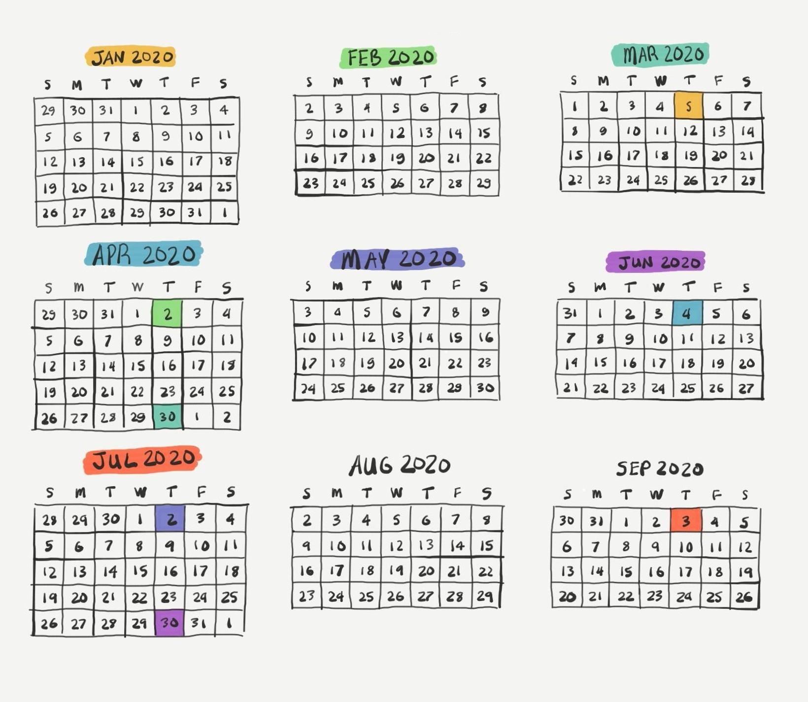 2020 2021 Financial Calendar - Template Calendar Design