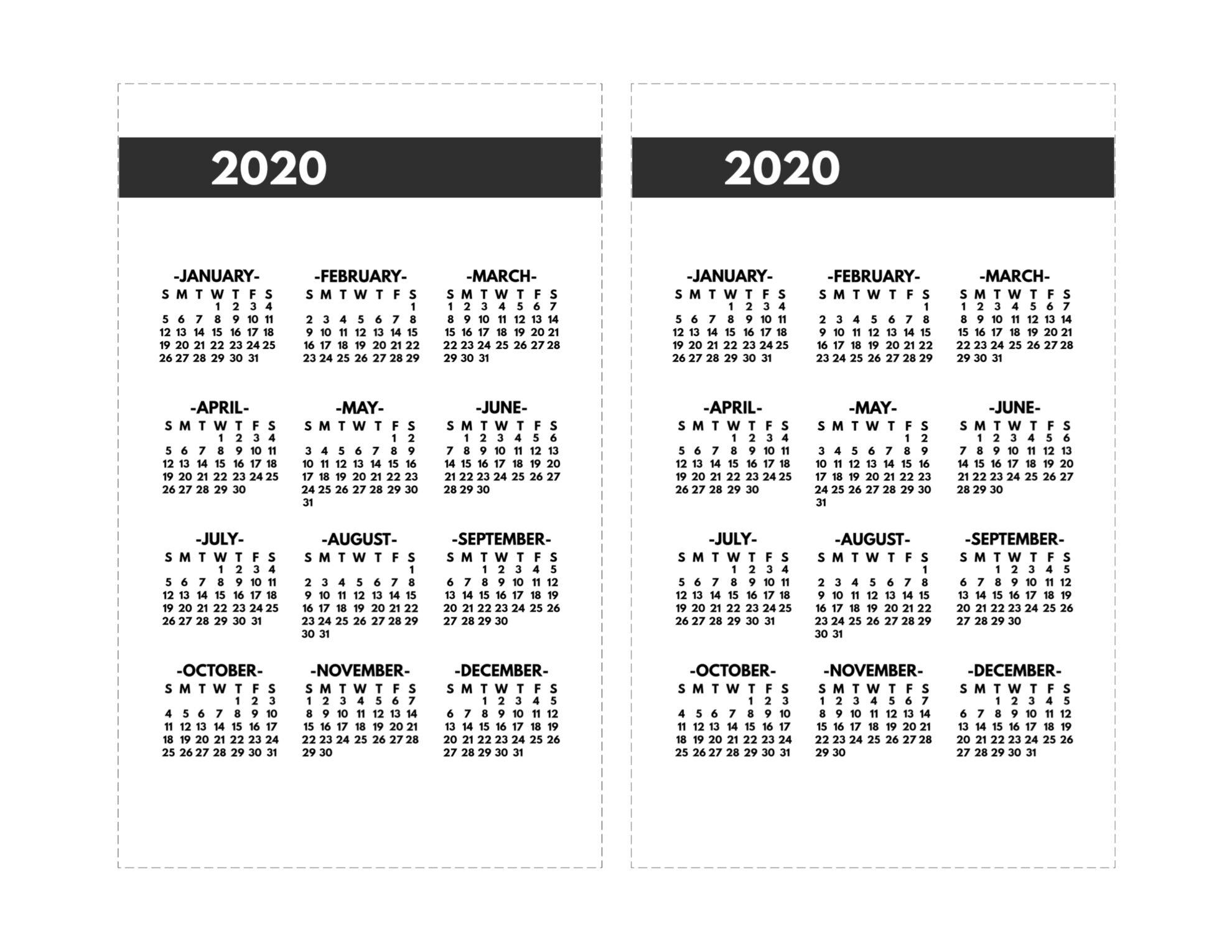 2020 Calendar 8 1/2 X 11 | Free Printable Calendar