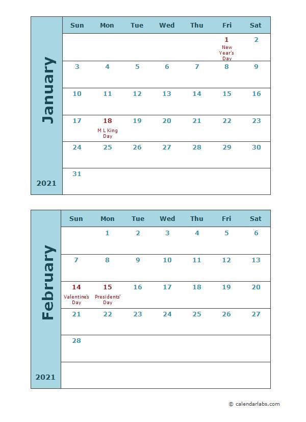 2021 Calendar Templates | Free, Editable, Pritable Templates