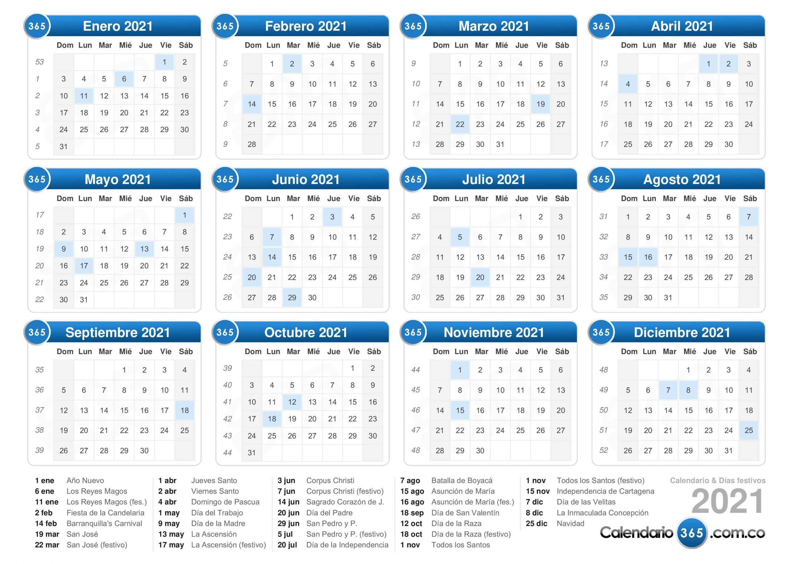 2021 Trid Calendar | Calendar Template 2021