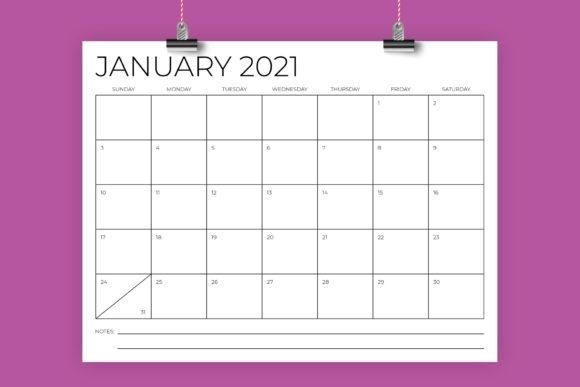 "2021Calendar 8-1/2""X11"" Printable | Calendar Template 2020"