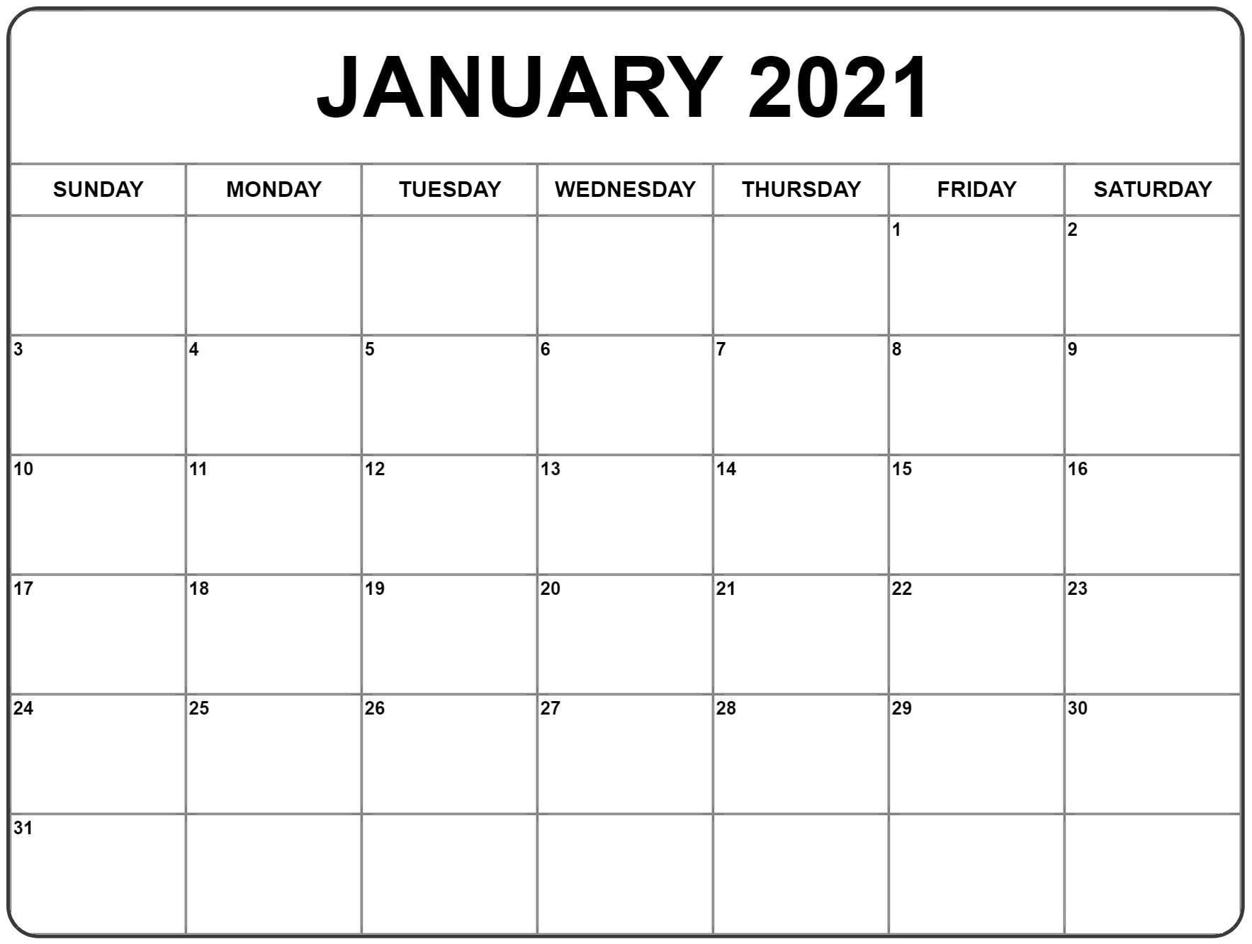 4 Month Fillable Calendar 2021 - Template Calendar Design