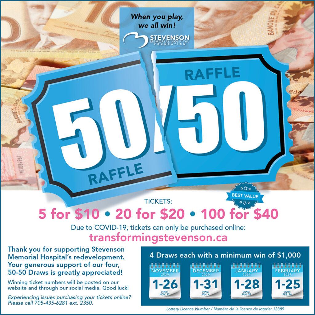 50-50 Lottery - Stevenson Memorial Hospital Foundation
