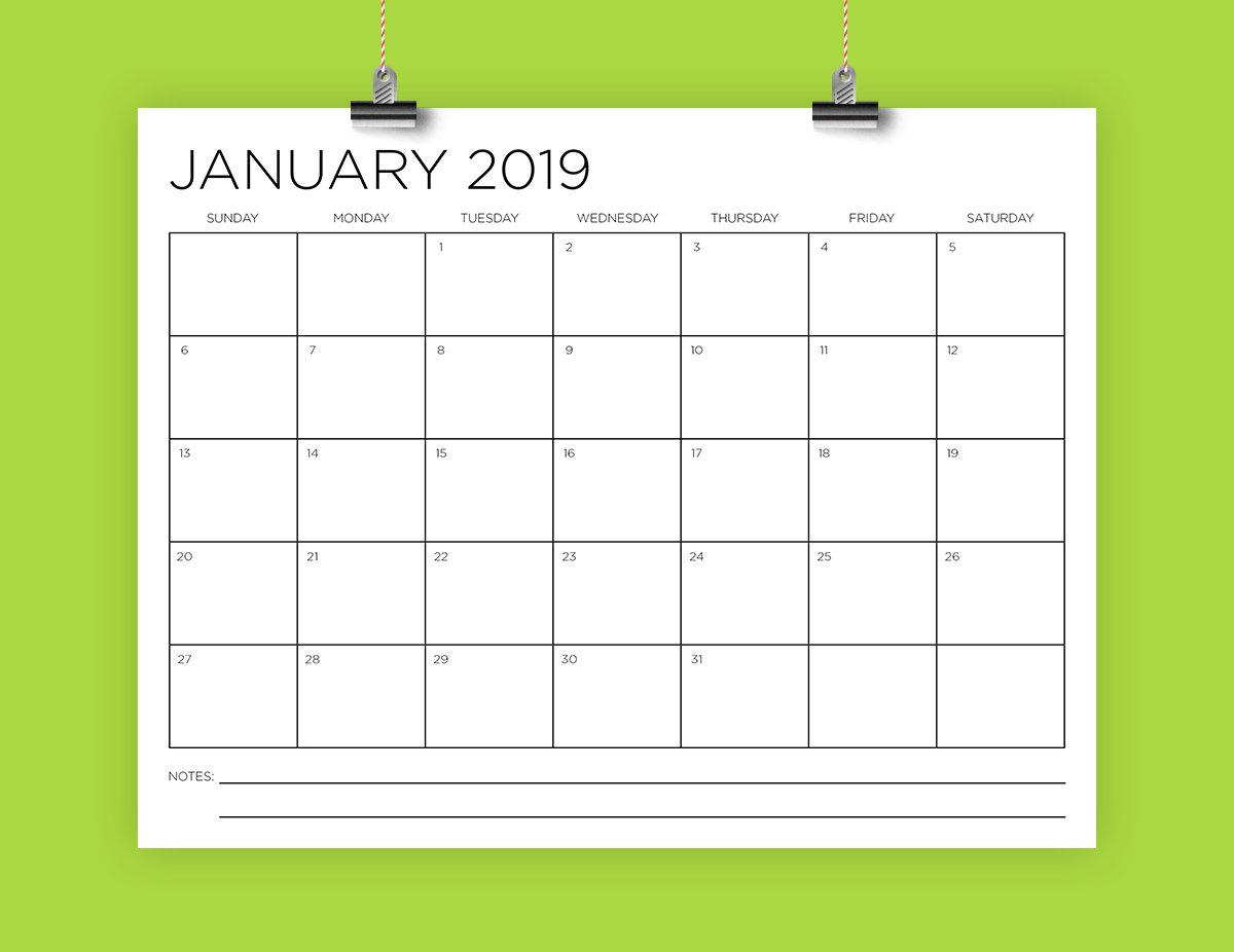85 X 11 Calendar Template | Example Calendar Printable