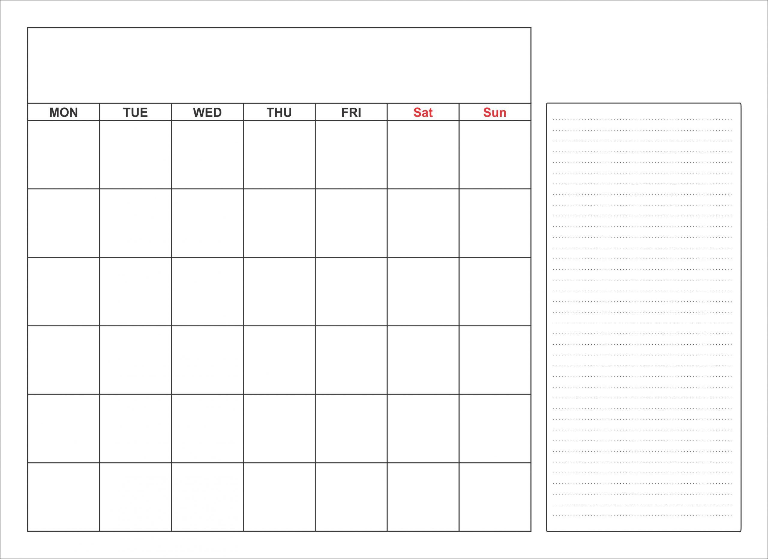Blank Calendar Template Monthly In Word, Pdf, Excel
